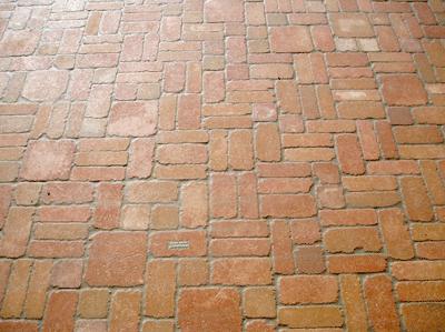 Pavimenti per esterni rustico: pavimento in legno di gerusalemme